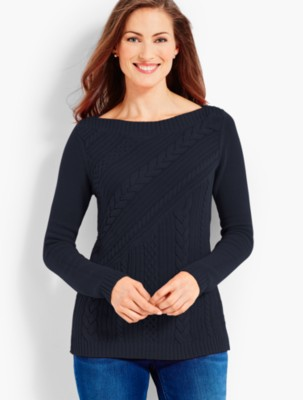 Talbots Women's Cable Crossover Sweater prdi43753