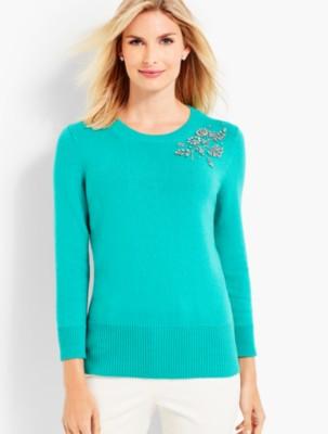Talbots Women's Beaded Corsage Sweater prdi43730