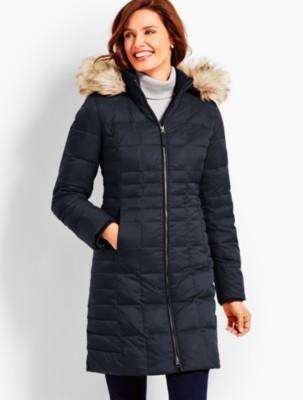 Talbots Women's Hooded Down Puffer Coat prdi44063