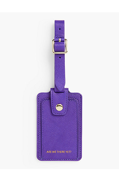 Saffiano Luggage Tag