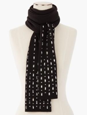 Talbots Women's Bejeweled Rib Knit Scarf prdi44534