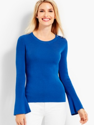 Talbots Women's Button Shoulder Sweater prdi44631