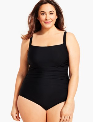 Talbots Women's Womans Exclusive Solid Cabana One Piece prdi45539