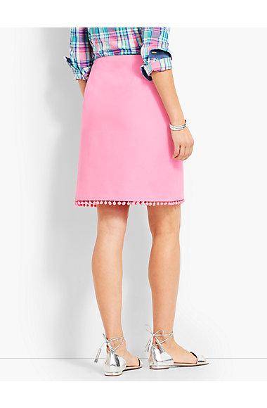 Pom Pom A Line Skirt by Talbots