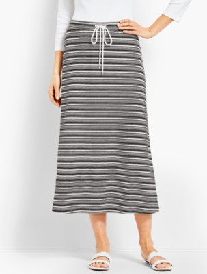 Talbots Women's Sierra Stripe Terry Skirt prdi45403