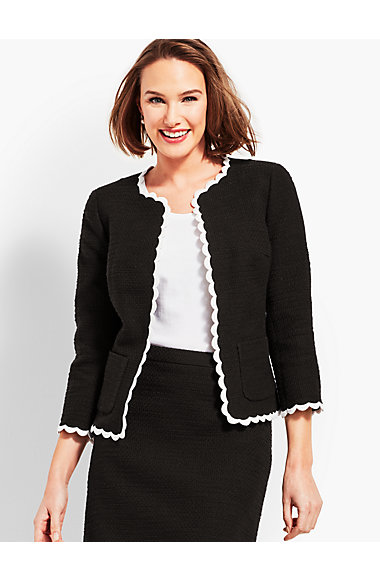 Tweed Scallop Jacket by Talbots