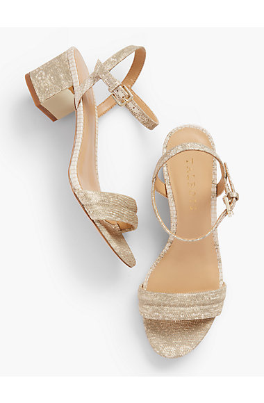 Mimi Luxe Exotic Block Heel Sandals by Talbots