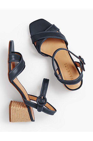Siena Rope Heel Sandals   Soft Nappa by Talbots