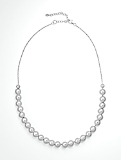 Sterling Silver Bead & Link Necklace