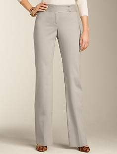 Curvy Cotton Bi-Stretch Bootcut Pants