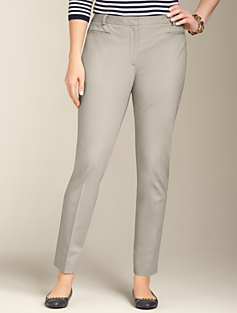 Heritage Cotton Bi-Stretch Ankle Pants