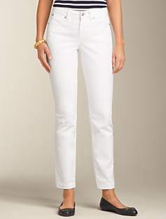 Curvy Fit White Ankle Jeans