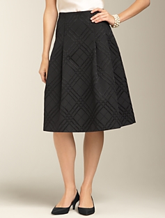 Plaid Jacquard Pleated Skirt