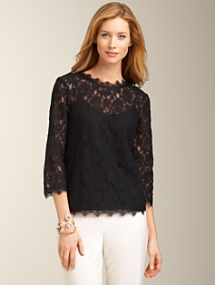 Gilded-Lace Top