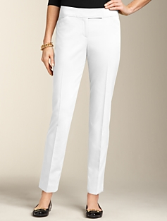 Signature Fit Blended Double-Weave Ankle Pants