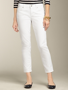 Signature Fit White Crop Jeans