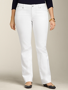 Signature Fit White Bootcut Jeans