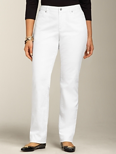 Heritage Fit White Straight-Leg Jeans