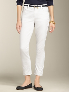 Heritage Fit White Crop Jeans