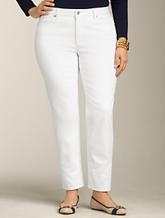 Signature Fit White Ankle Jeans