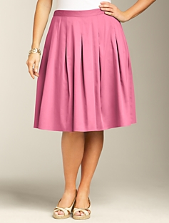 Sateen Pleated Full Skirt