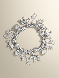 Animal-Charm Stretch Bracelet
