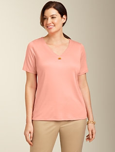 Luxe Bamboo-Toggle Tee