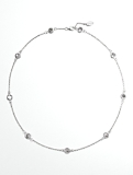 Sterling Silver Cabochon & Chain Necklace