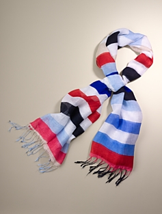 Multi-Stripe Scarf