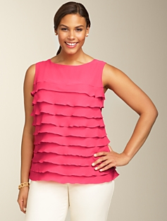 Tiered Georgette Silk Top