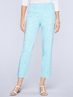 Heritage Fit Picnic-Print Crop Pants