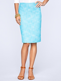Textured Tweed Pencil Skirt