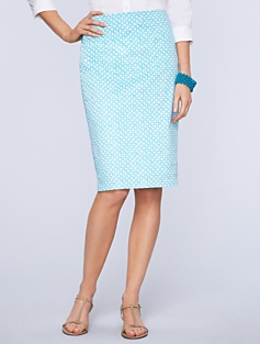 Picnic-Print Pencil Skirt
