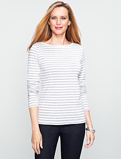 Sparkle Stripes Pima Cotton Tee