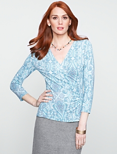 Paisley Refined Wrap Top