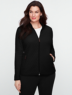 Quilted-Zip Front Jacket