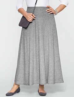 Double-Knit Yoke-Waist Skirt