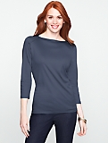 Luxe Button Envelope-Shoulder Tee