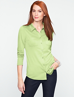Luxe Patch-Pocket Shirt