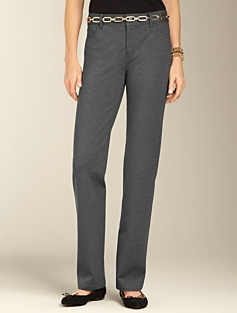 Slimming Signature Ponte Straight-Leg Pants