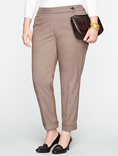 Heritage Houndstooth Cuffed Ankle Pants