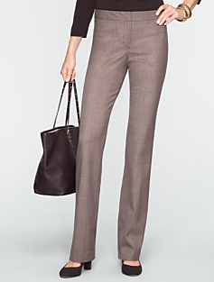 Signature Straight-Leg Plaid Pants