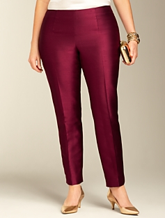 Signature Doupioni Ankle Pants