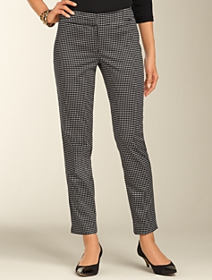 Signature Dobby Dot Sateen Ankle Pants