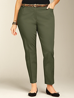 Heritage Slimming Cotton Bi-Stretch Ankle Pants