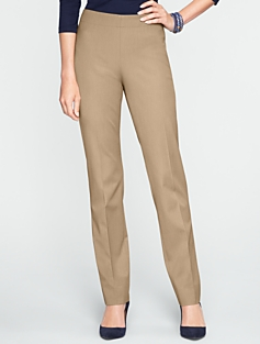 Curvy Bi-Stretch Slim-Leg Pants