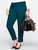 Curvy Slimming Double-Weave Ankle Pants