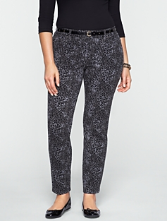 Signature Animal-Print Ankle Pants