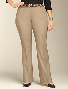 Curvy Bi-Stretch Bootcut Pants