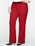 Curvy Italian Flannel Wide-Leg Pants
